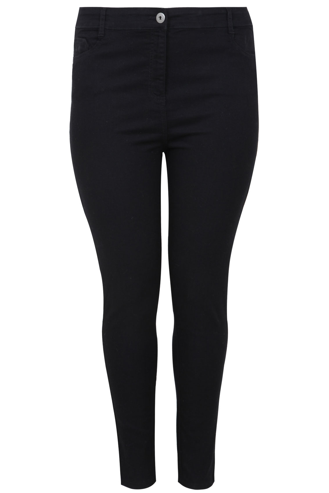 Black Super Stretch Skinny Jeans plus Size 14 to 28