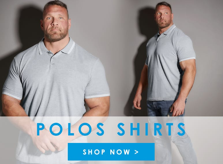 Shop Big and tall mens polo shirts >