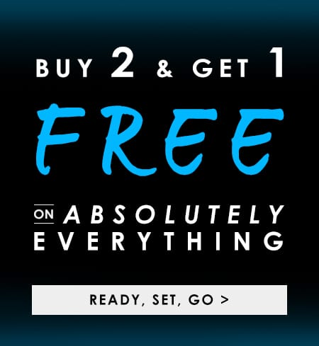 Buy 2 Get 1 Free on Absolutely Everything >