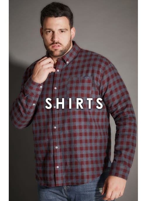 Shop Men's Big and tall Shirts >