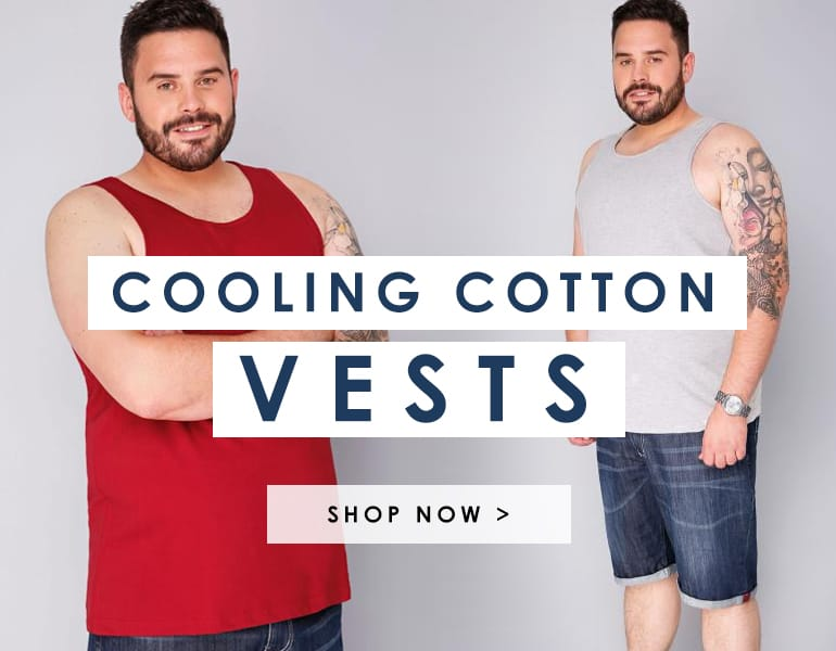 Big and tall cotton vests >