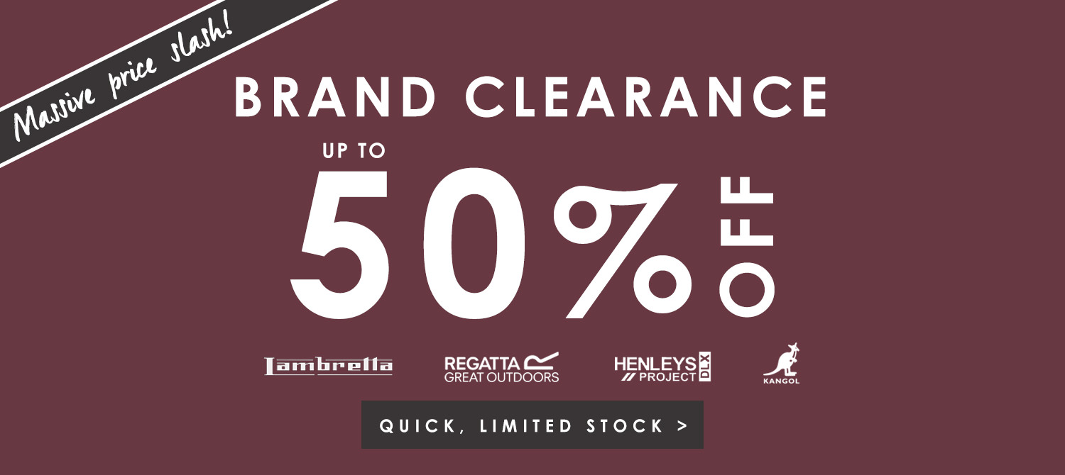 Up to 50% off brands