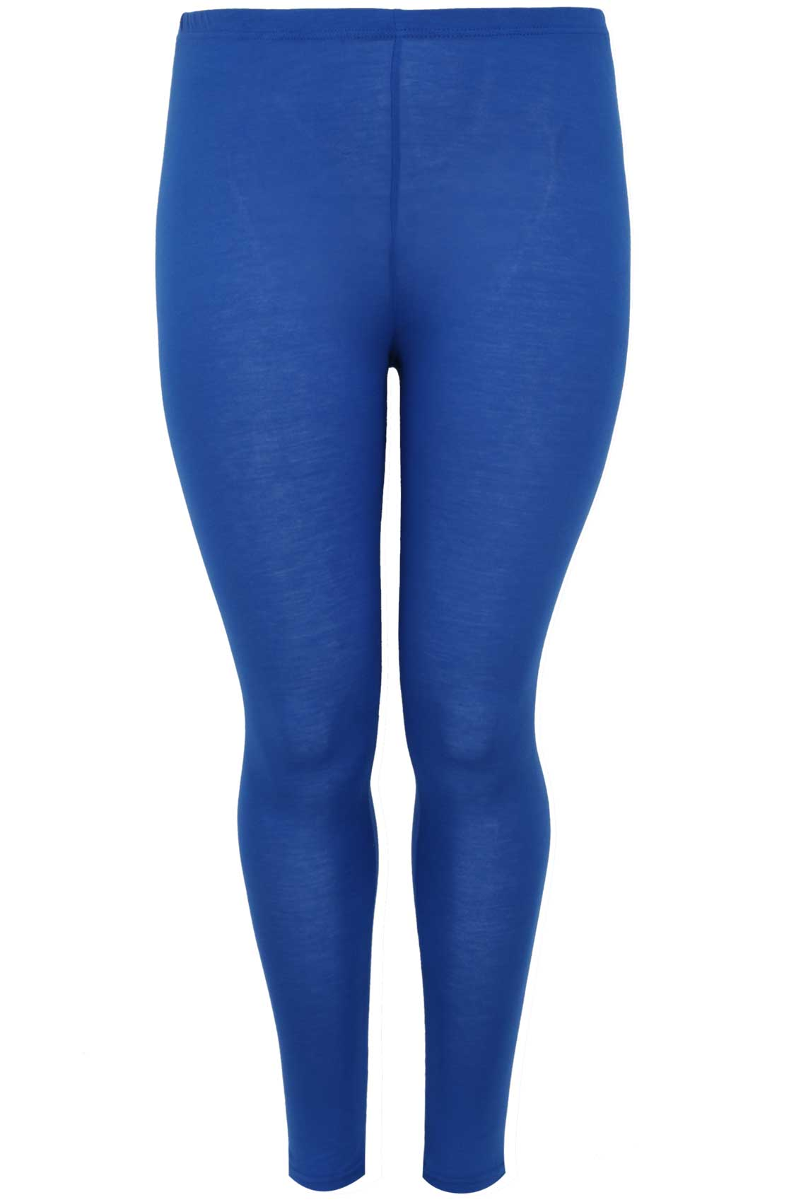 Cobalt Blue Full Length Viscose Elastane Leggings plus size 16,18 ...