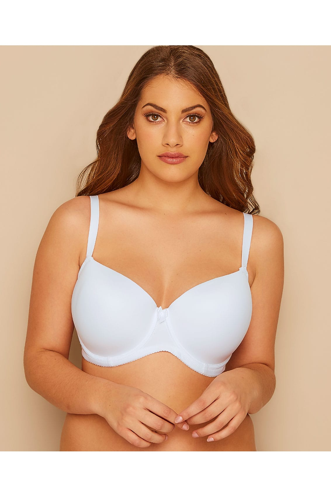 2 pack white nude moulded t shirt bra