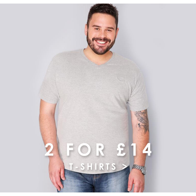 2 for £14 t-shirts >