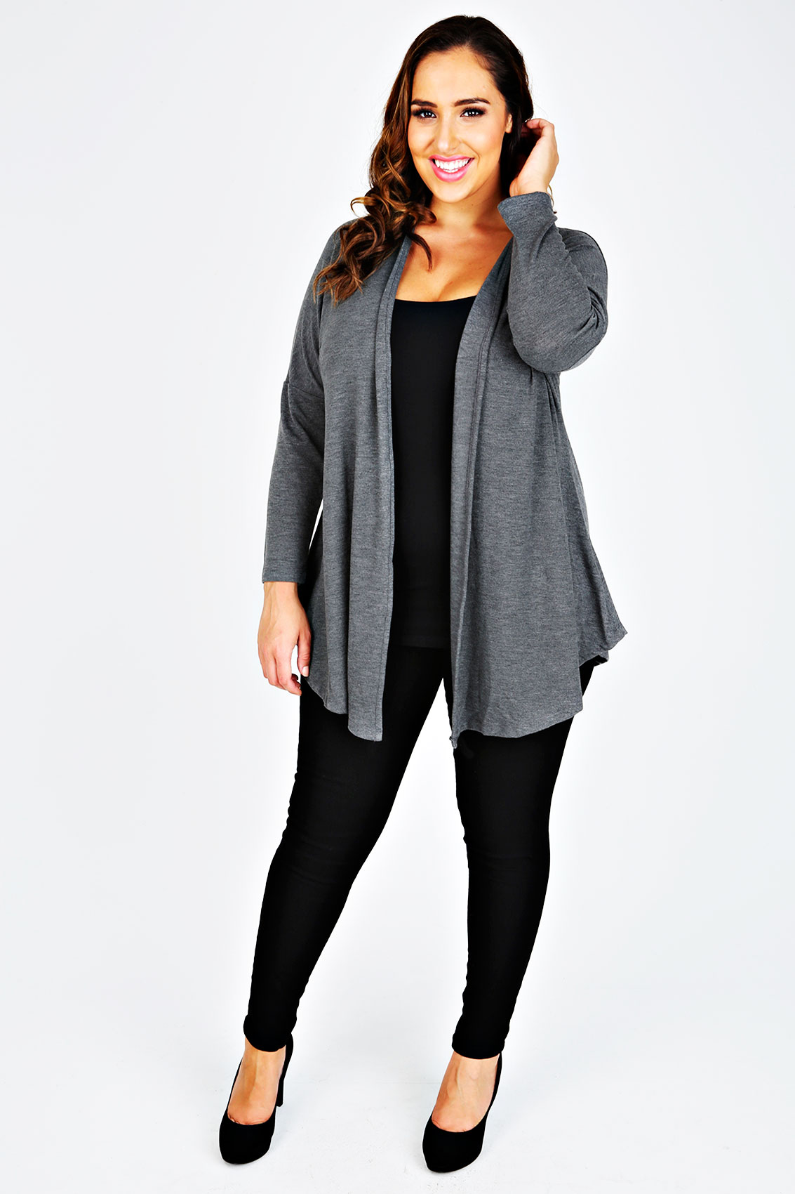 Long Sleeved Grey Cardigan