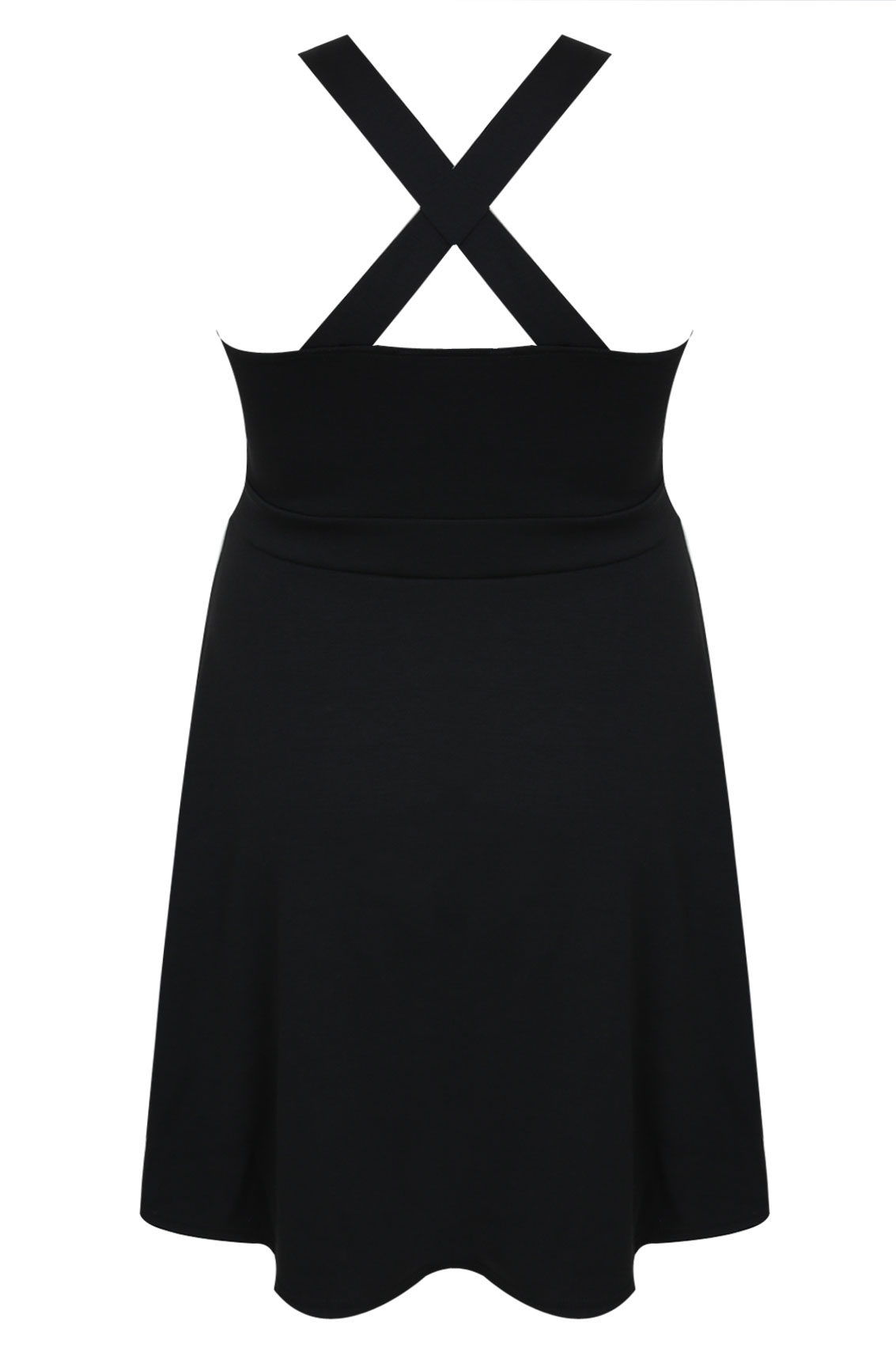 Black pinafore dress size 18