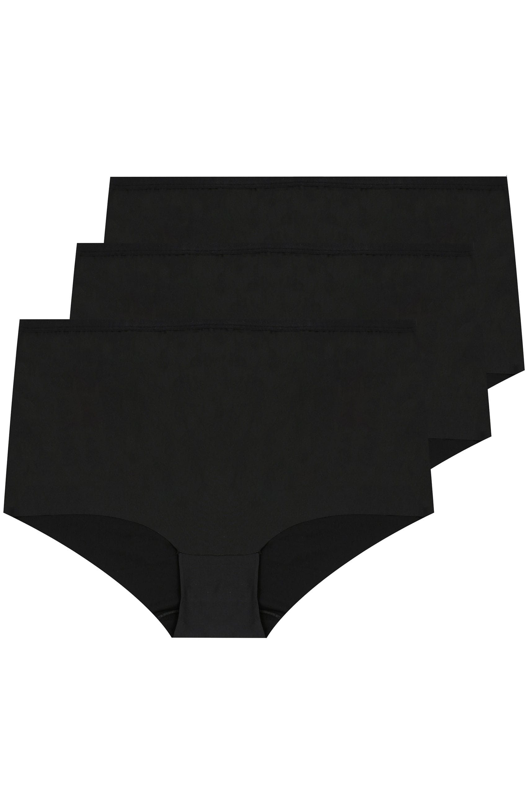 3 pack black no vpl full briefs plus size 16 to 36 for Supermarket bag packing letter template