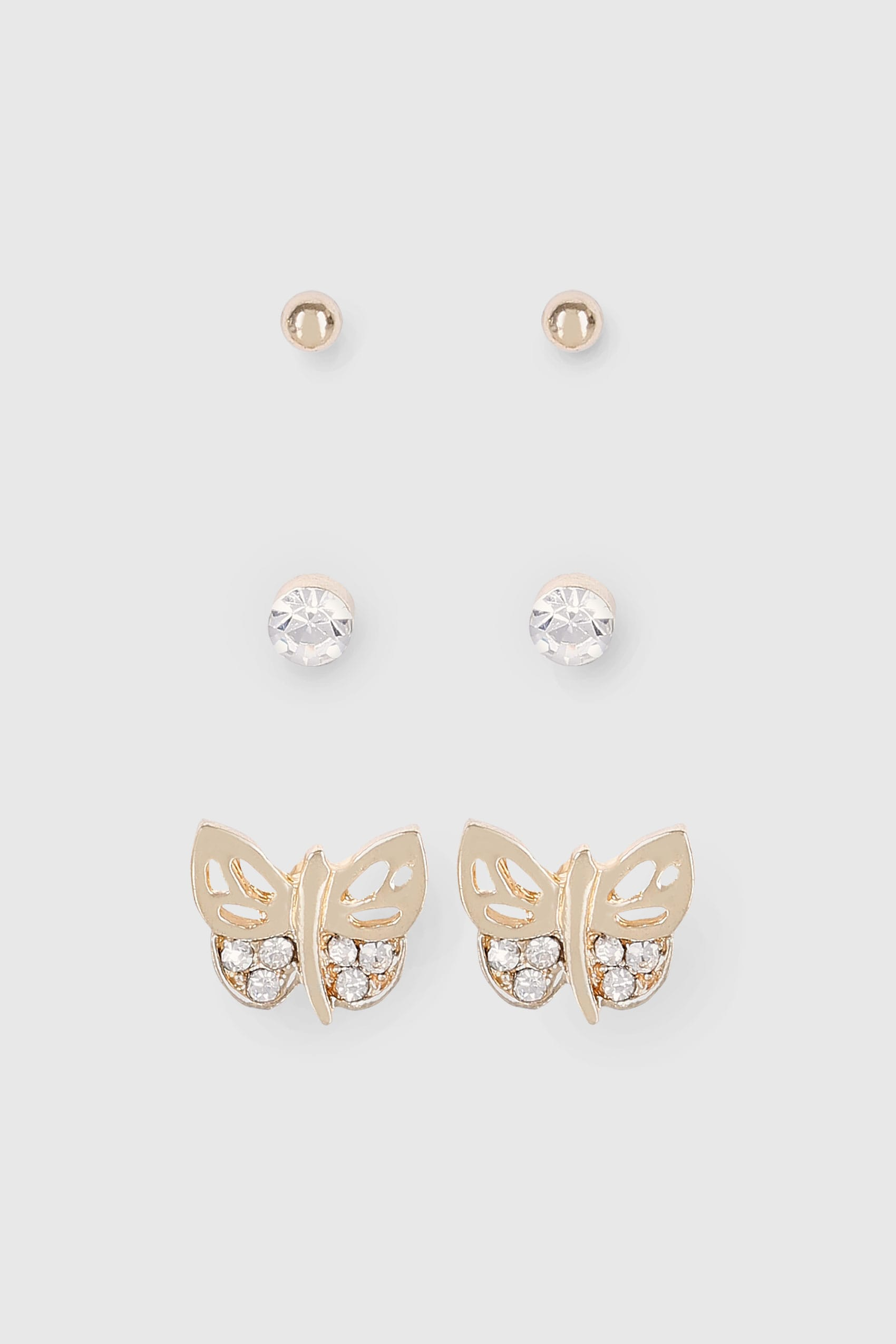 butterfly earring stud glistkin products silver