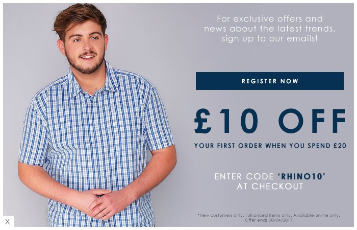 £10 off your first order >