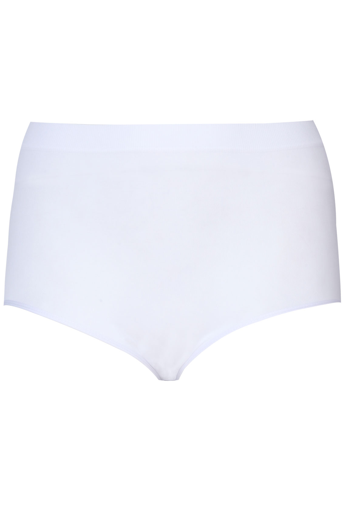 White Seamless Light Control Brief-8501