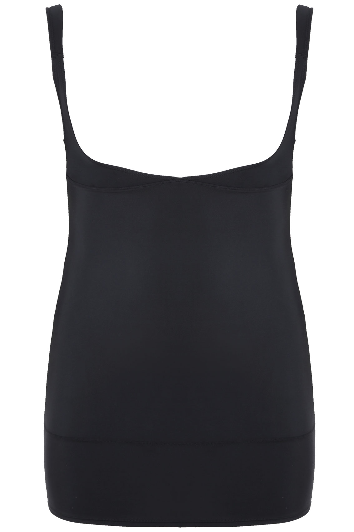 Black Underbra Smoothing Slip Dress With Firm Control Plus -9742