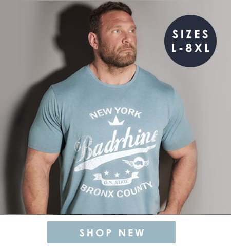 Big & Tall Menswear up to 8XL