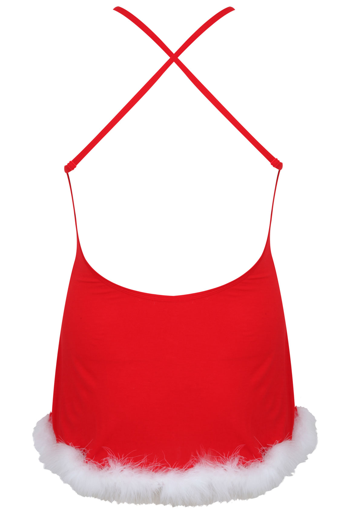 Dreamgirl Rotes Jersey Santa Chemise Mit Passender Mtze-6036