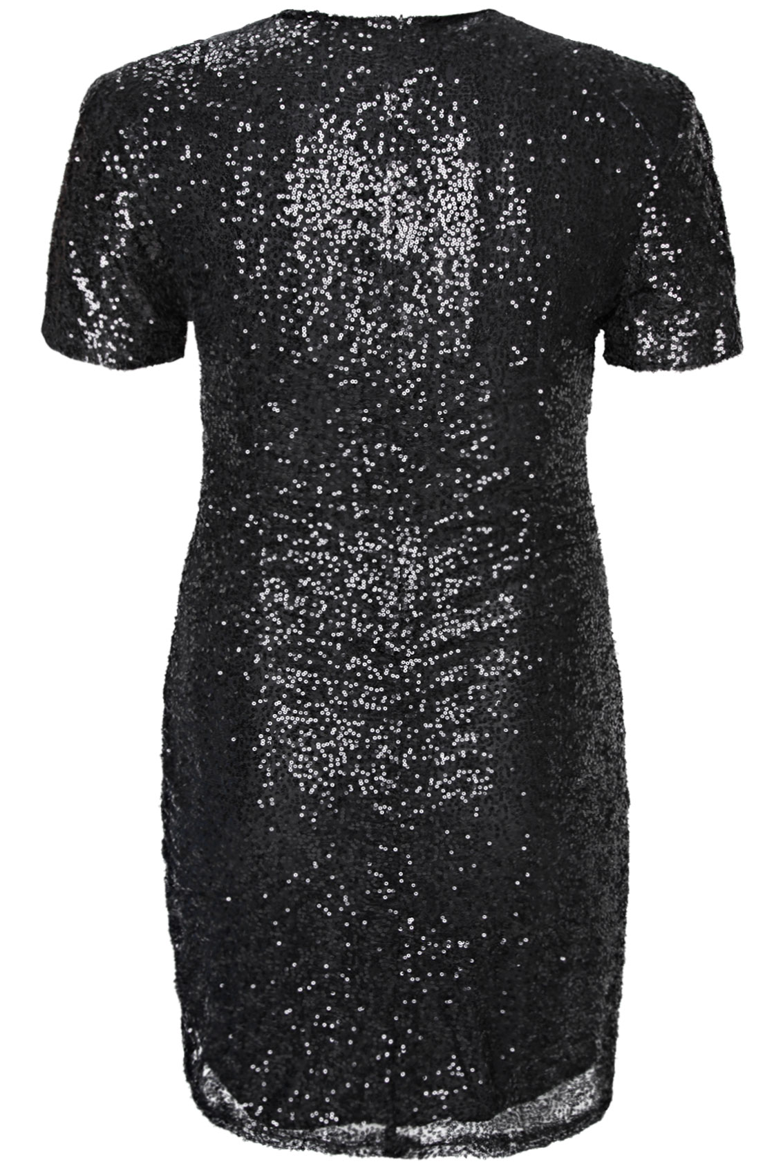 Black sparkle dresses with short sleeves size 14-16