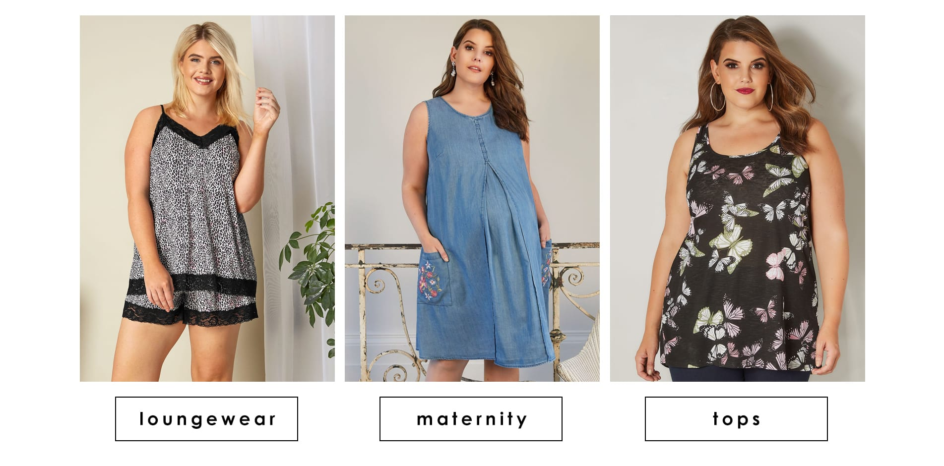 Plus size loungerwear maternity tops