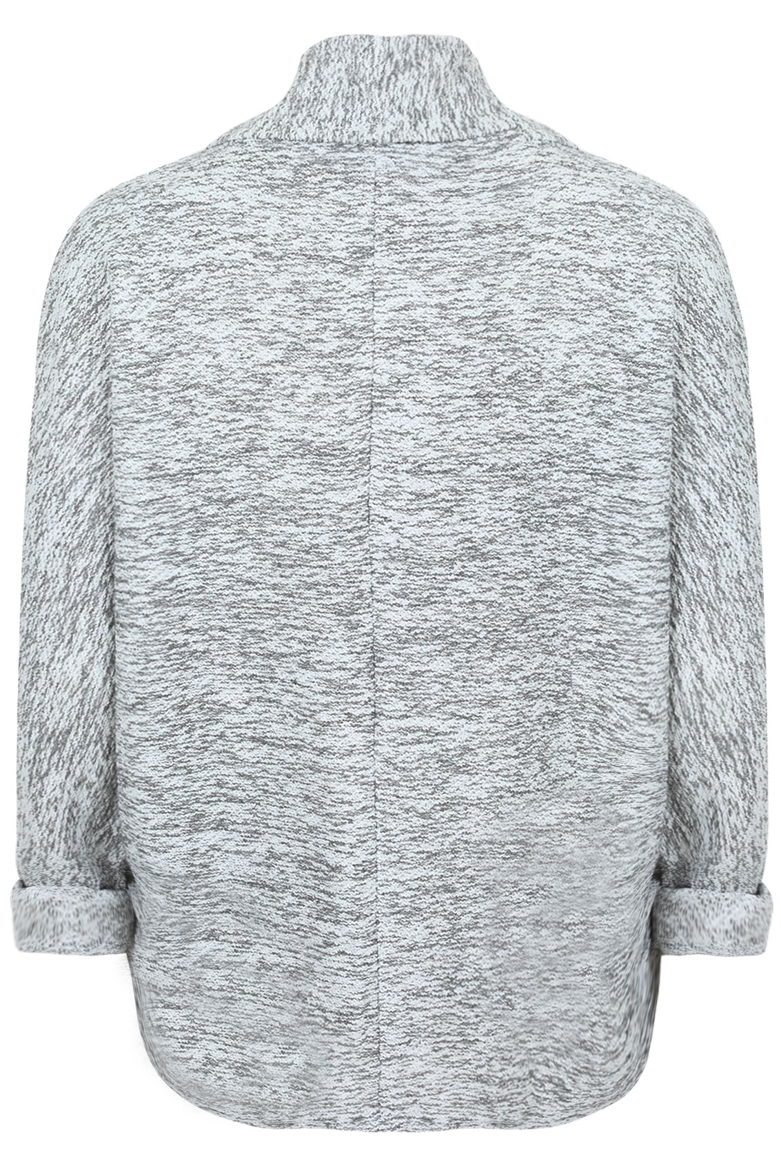 Grey White Silver Bedroom: Grey And White Boucle Boyfriend Jacket With Silver Thread
