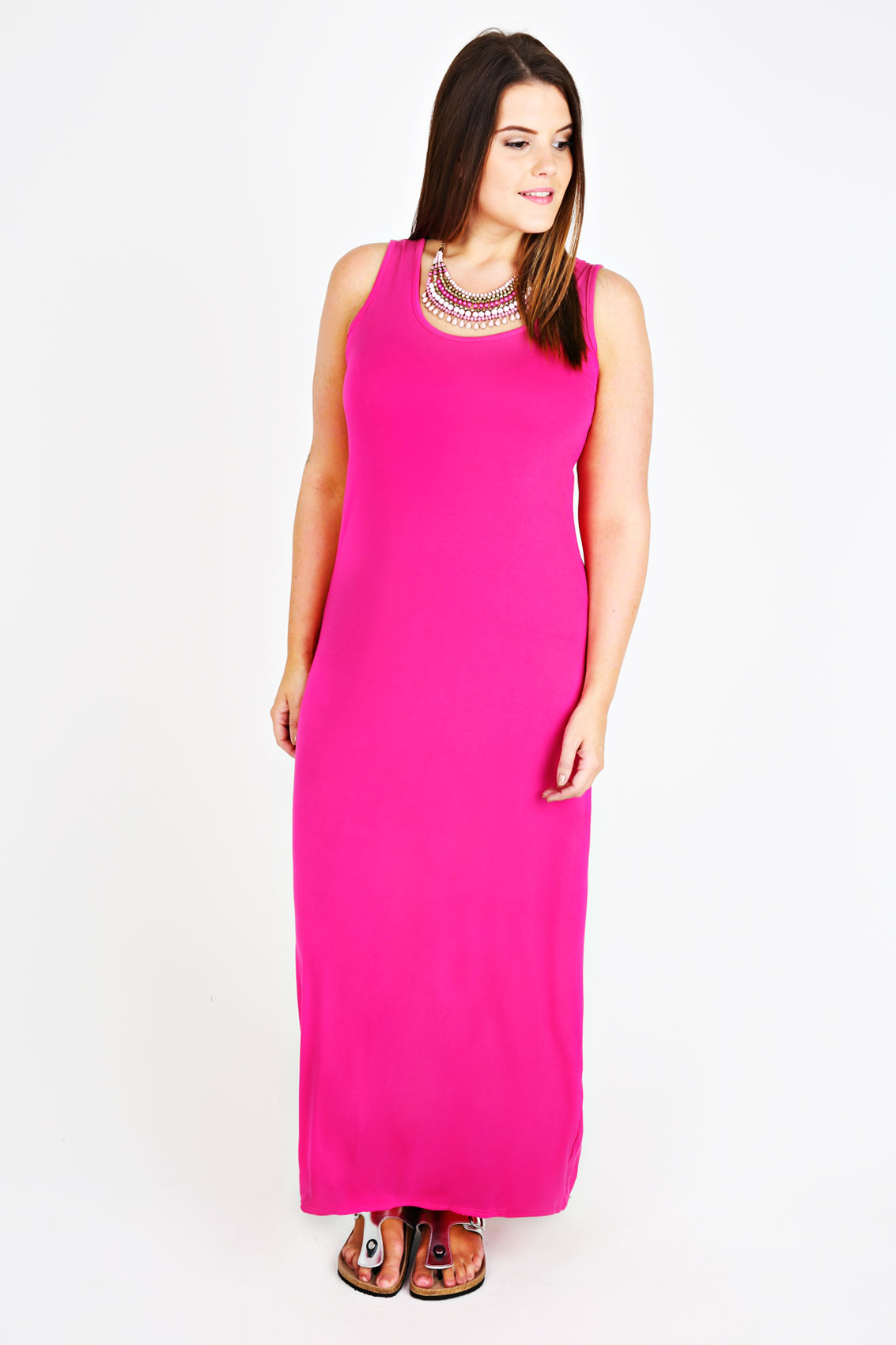 Plus Size Pink Maxi Dress Uk - Formal Dresses