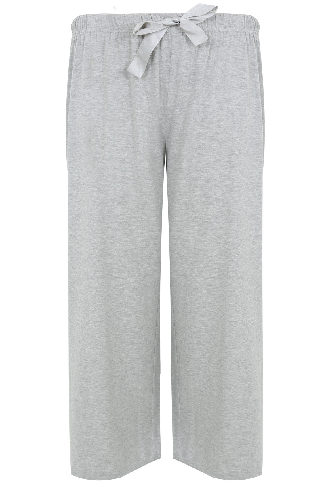 Grey Basic Cotton Pyjama Bottoms Plus Size 16 To 32-4159
