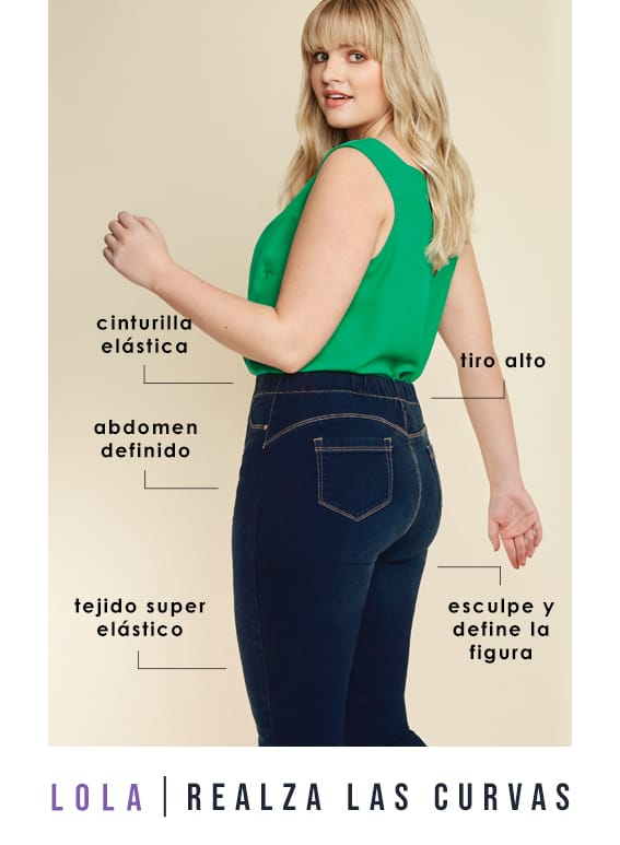 Plus Size Bum Shaper Jeans >