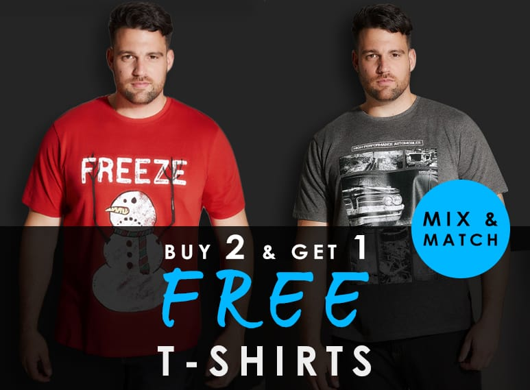 Buy 2 Get 1 Free on all T-shirts >