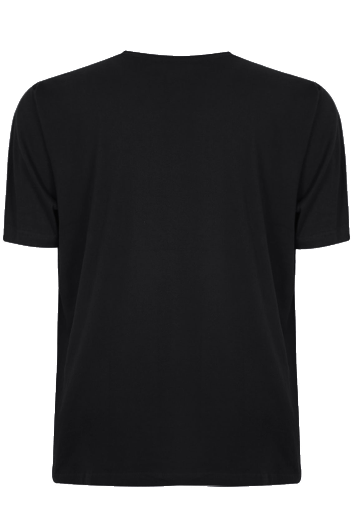 BadRhino Black Basic Plain Crew Neck T-Shirt Extra large sizes M,L ...