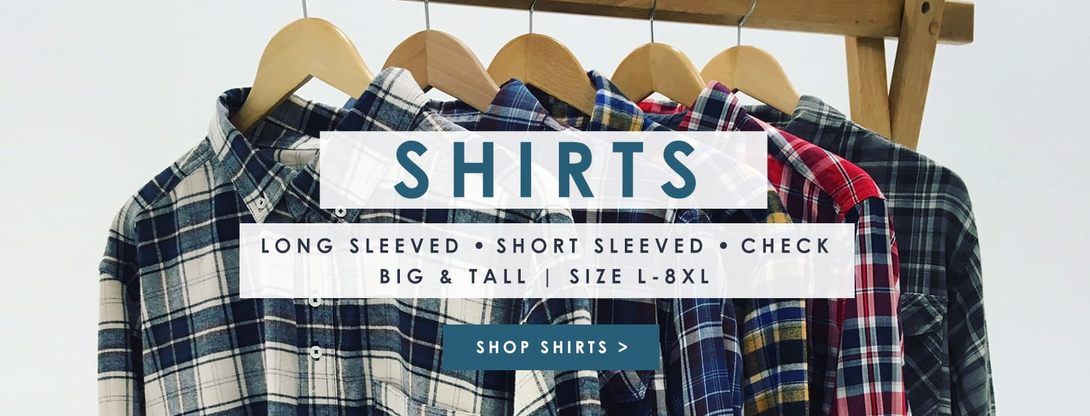 Mens Shirts in sizes L-8XL