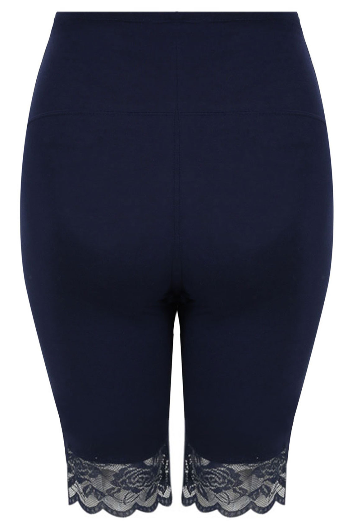Bump It Up Maternity Navy Cotton Elastane Legging Shorts