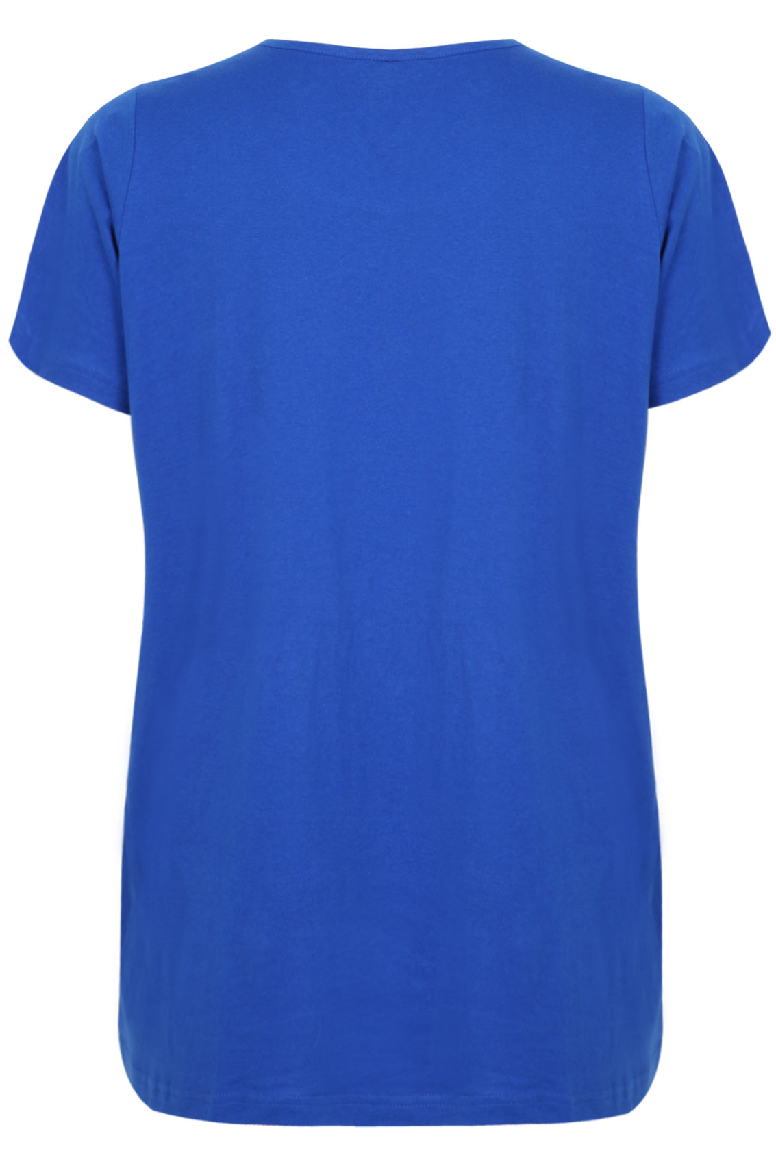 Completely new Cobalt Blue Short Sleeve Scoop Neck Basic T-shirt plus Size 16 to 36 XC47