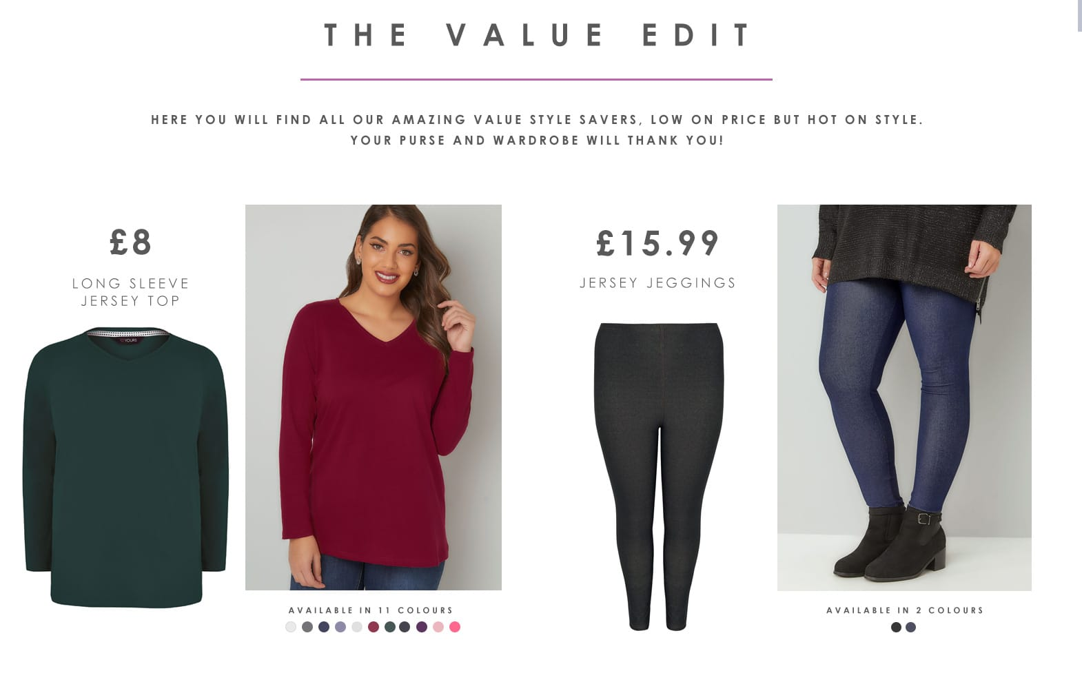 Shop plus size value clothing >