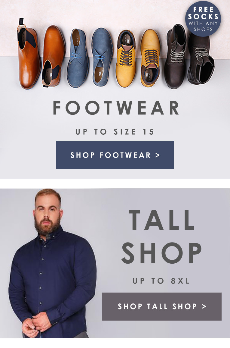 Men's Footwear and Tall Shop