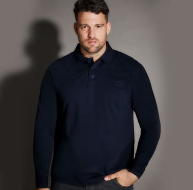 Shop Big and Tall Menswear Polo Shirts >