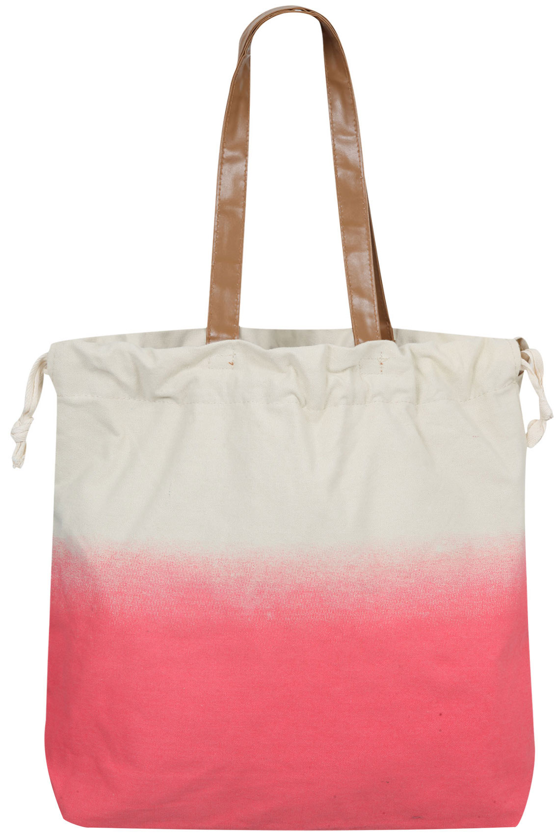 & Stone Ombre Canvas Beach Bag With Drawstring