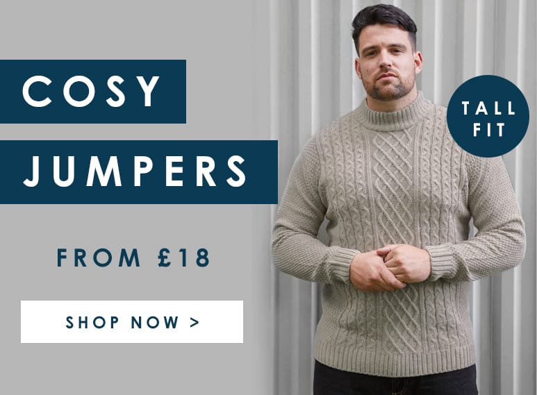 Shop Big and Tall Men's Knitwear >