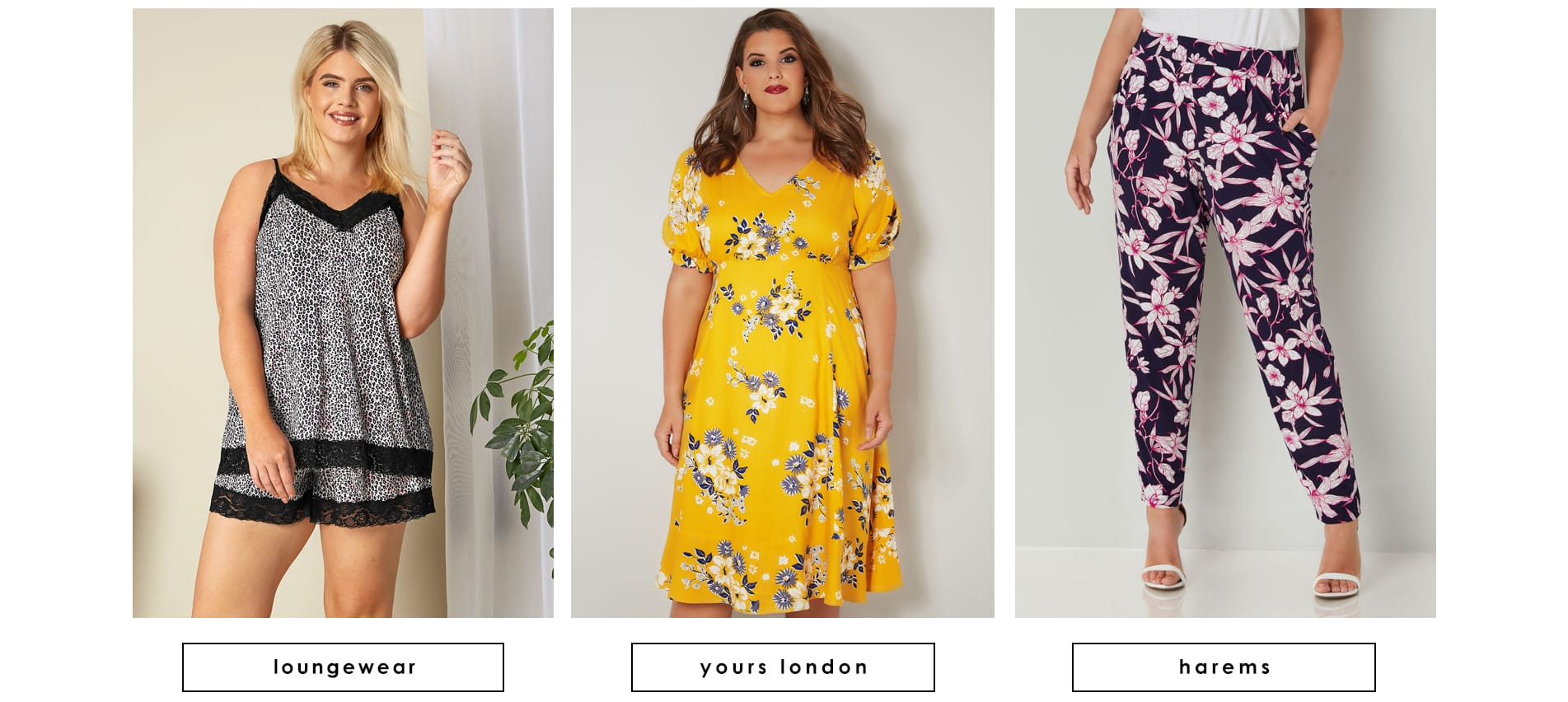 Plus size loungerwear, Yours London & Harems