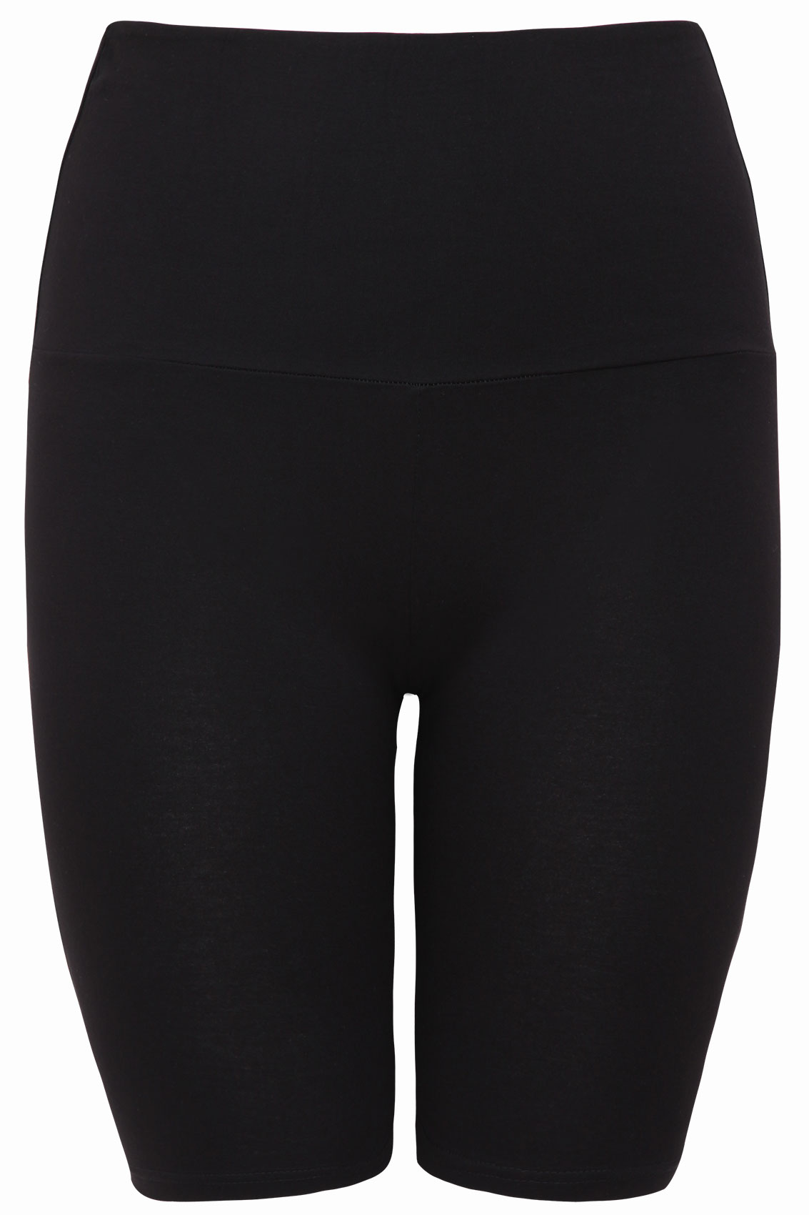 black tummy control soft touch legging shorts  plus size
