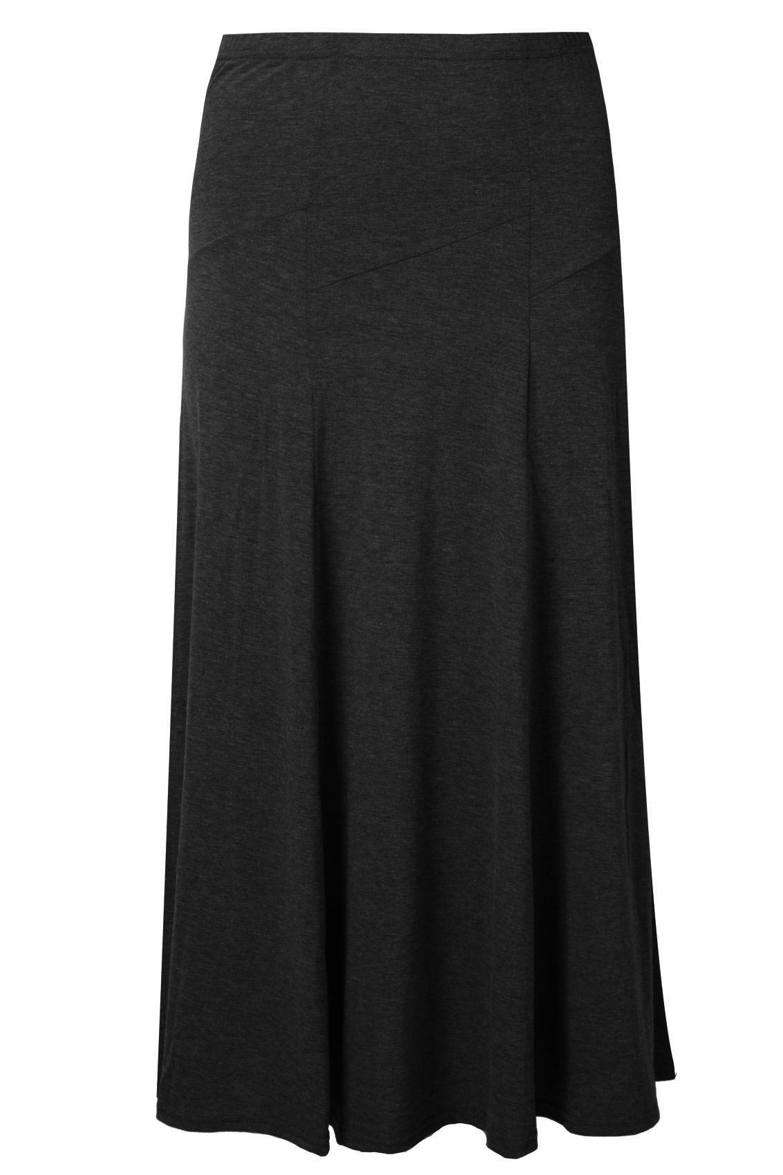black panelled jersey maxi skirt plus size 16 18 20 22 24