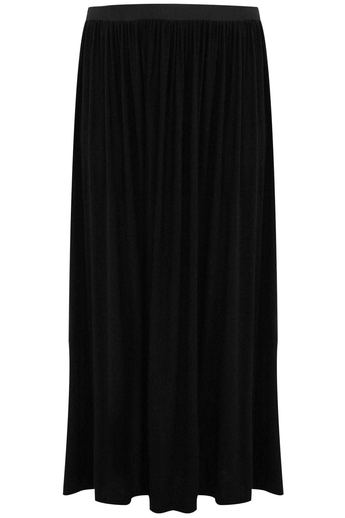 Black Maxi Skirt With Elasticated Waist plus Size 14 to 32