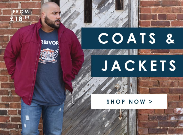 Shop Big and tall mens coats and jackets >