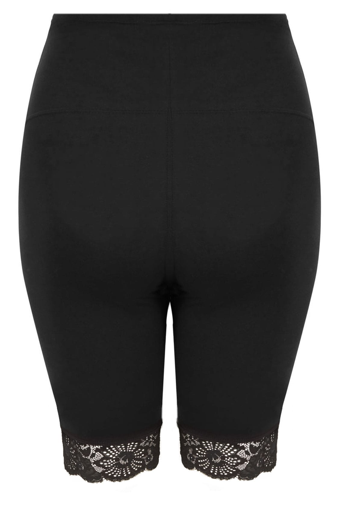 73db74a818c Hover over the images above to enlarge. BUMP IT UP MATERNITY Black Legging  Shorts With Lace Trim