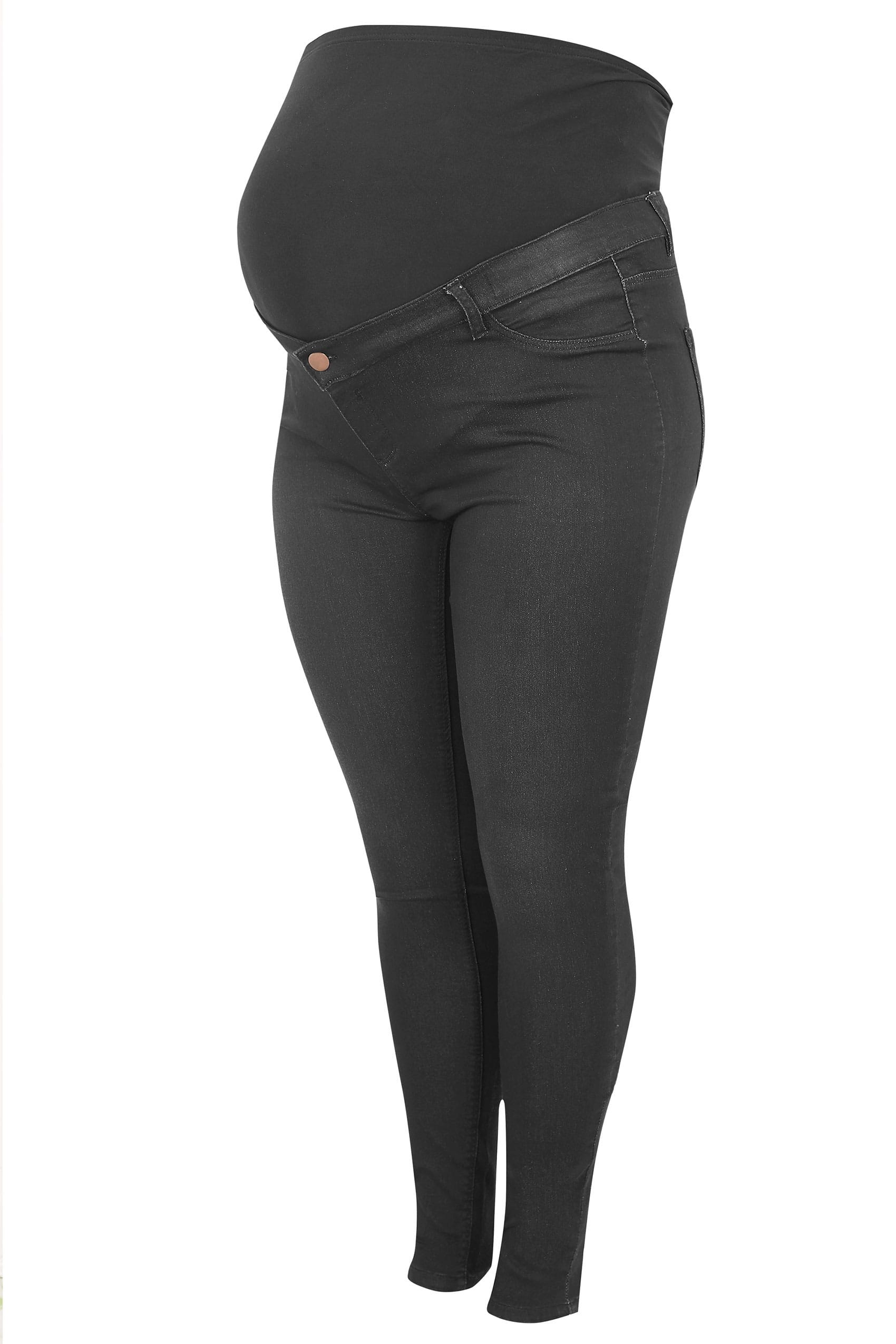 5f0e897e1fc88 BUMP IT UP MATERNITY Black Super Stretch Skinny Jeggings With Comfort Panel