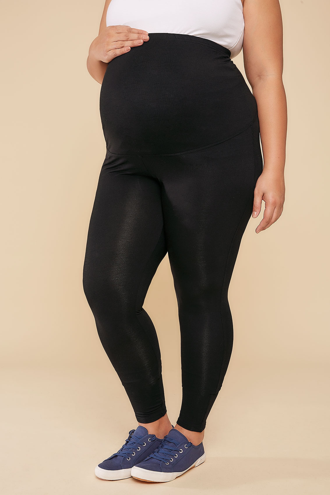 Rooms: BUMP IT UP MATERNITY Black Viscose Elastane Leggings With
