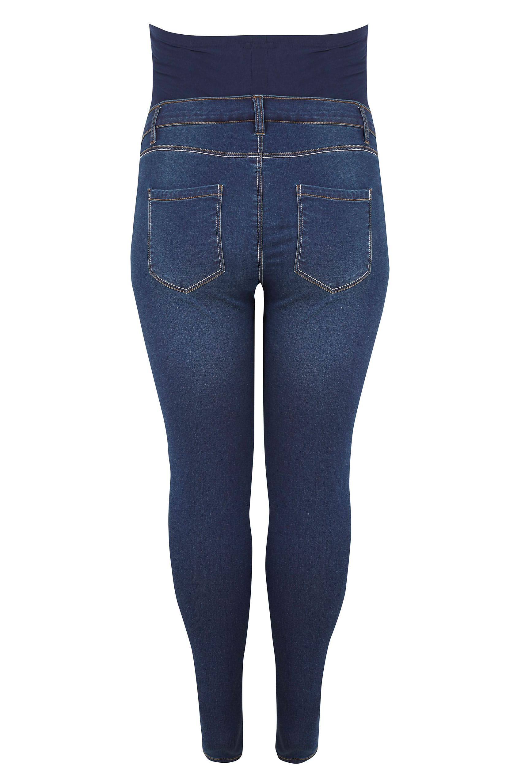 b6acfd05f7440 BUMP IT UP MATERNITY Blue Super Stretch Skinny Jeggings With Comfort Panel