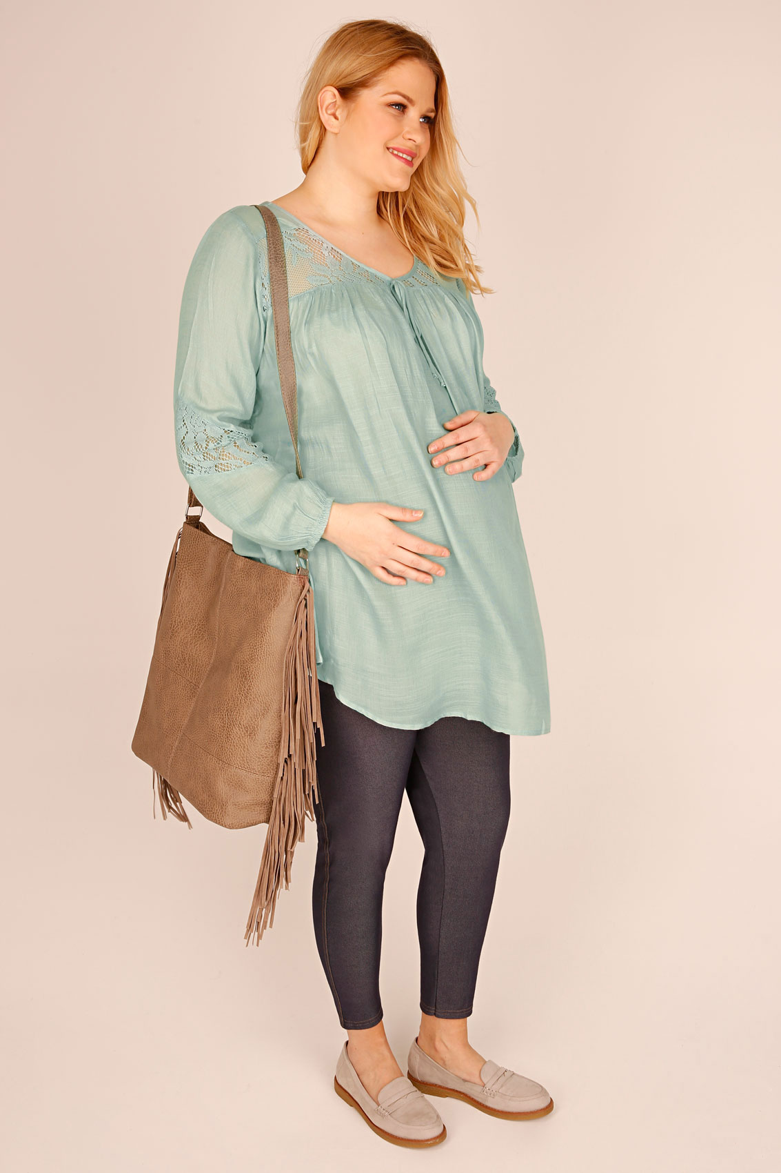 In addition to maternity clothing and nursing options you will find beautiful maternity lingerie, layette, baby gifts, diaper bags, and skin care lines.