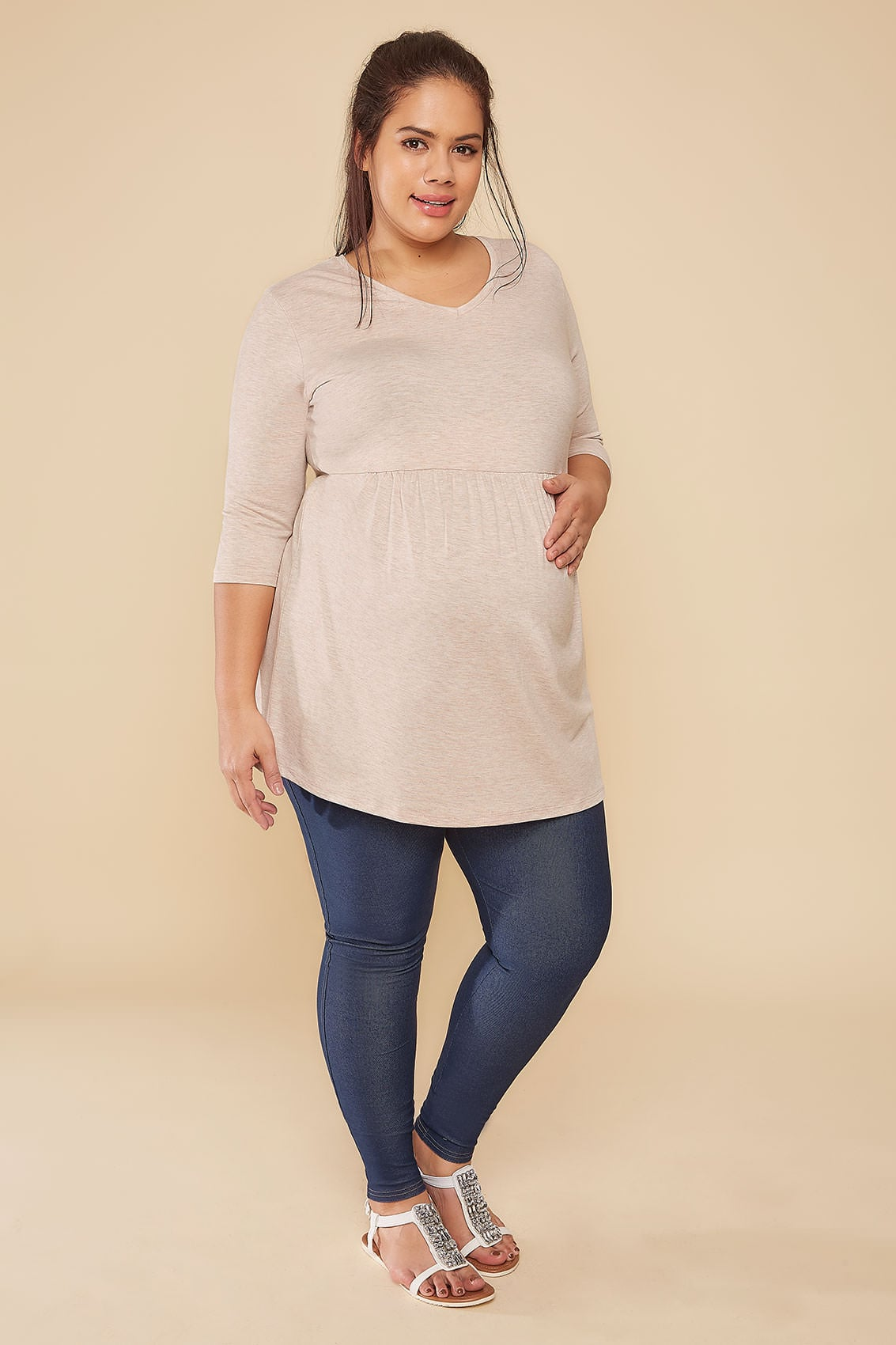 Rooms: BUMP IT UP MATERNITY Indigo Jeggings With Comfort Panel