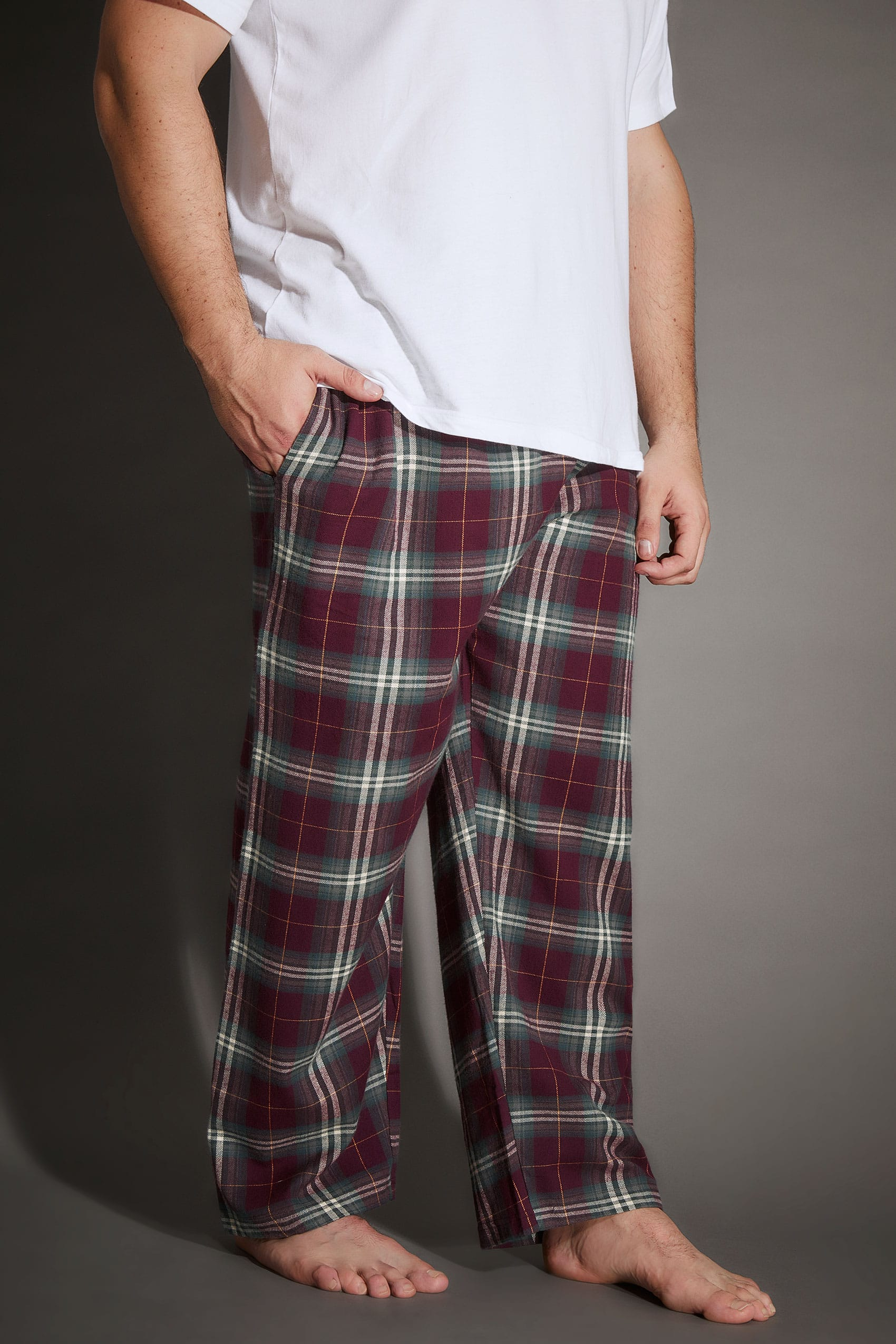 1c14bf21ba Nightwear BadRhino Burgundy   Green Check Pyjama Bottoms 200465 · Buy ·  Available in Big   Tall