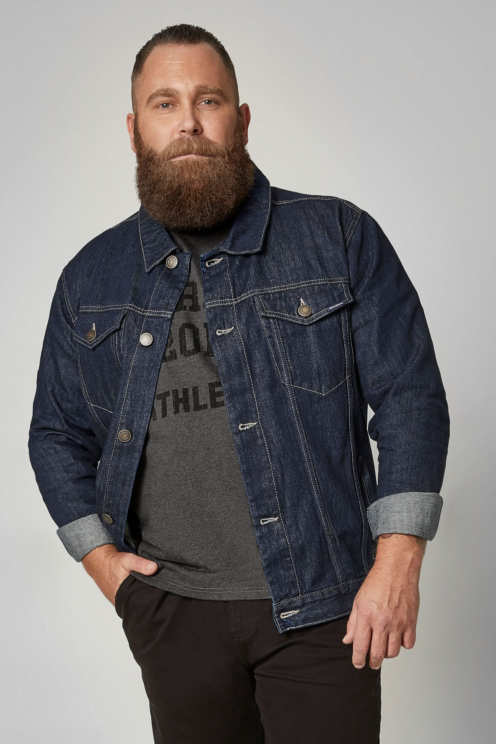 42028331a2c5d BadRhino Dark Blue Denim Jacket. prev