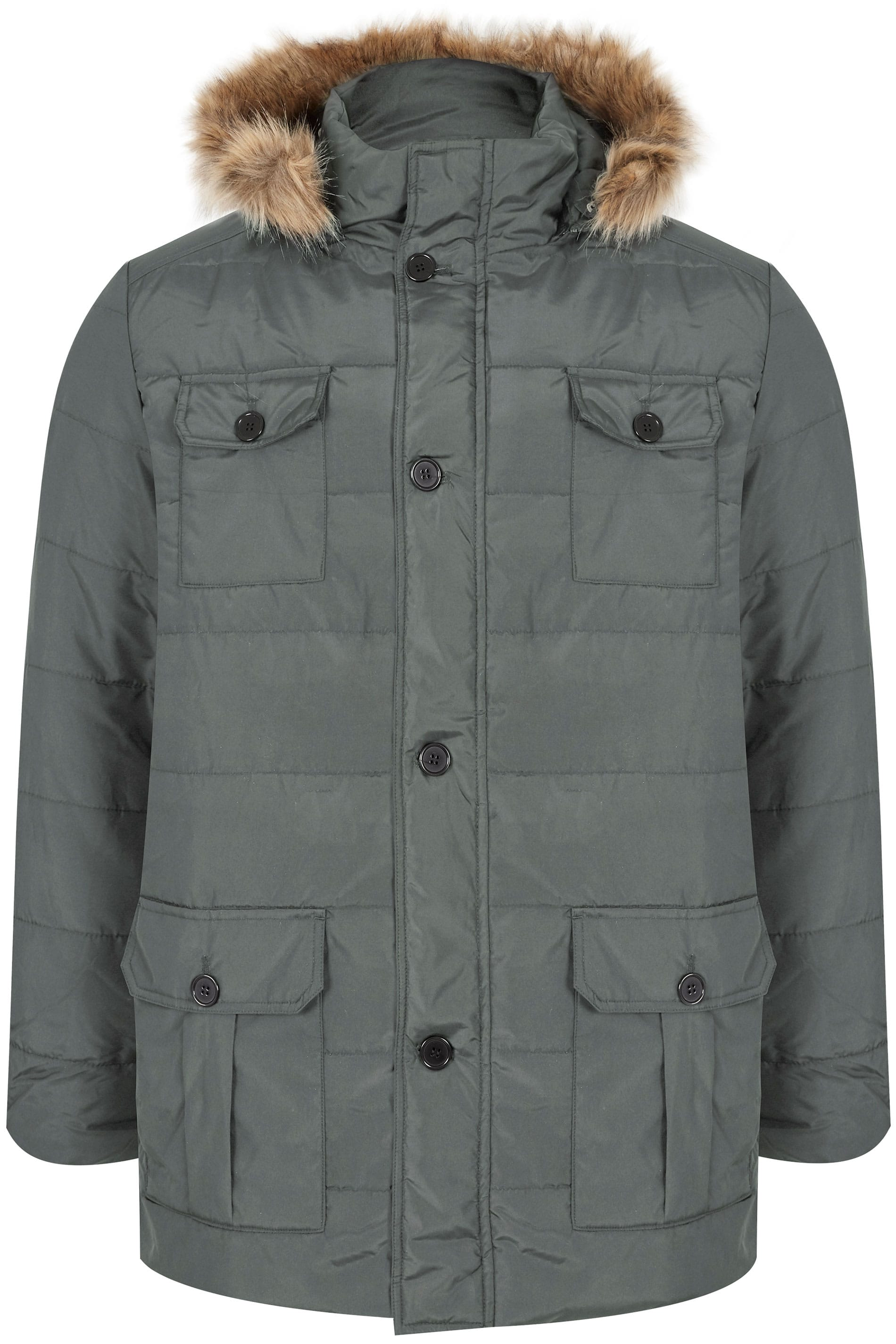 9f774e947cd2 BadRhino Grey Padded Parka. prev
