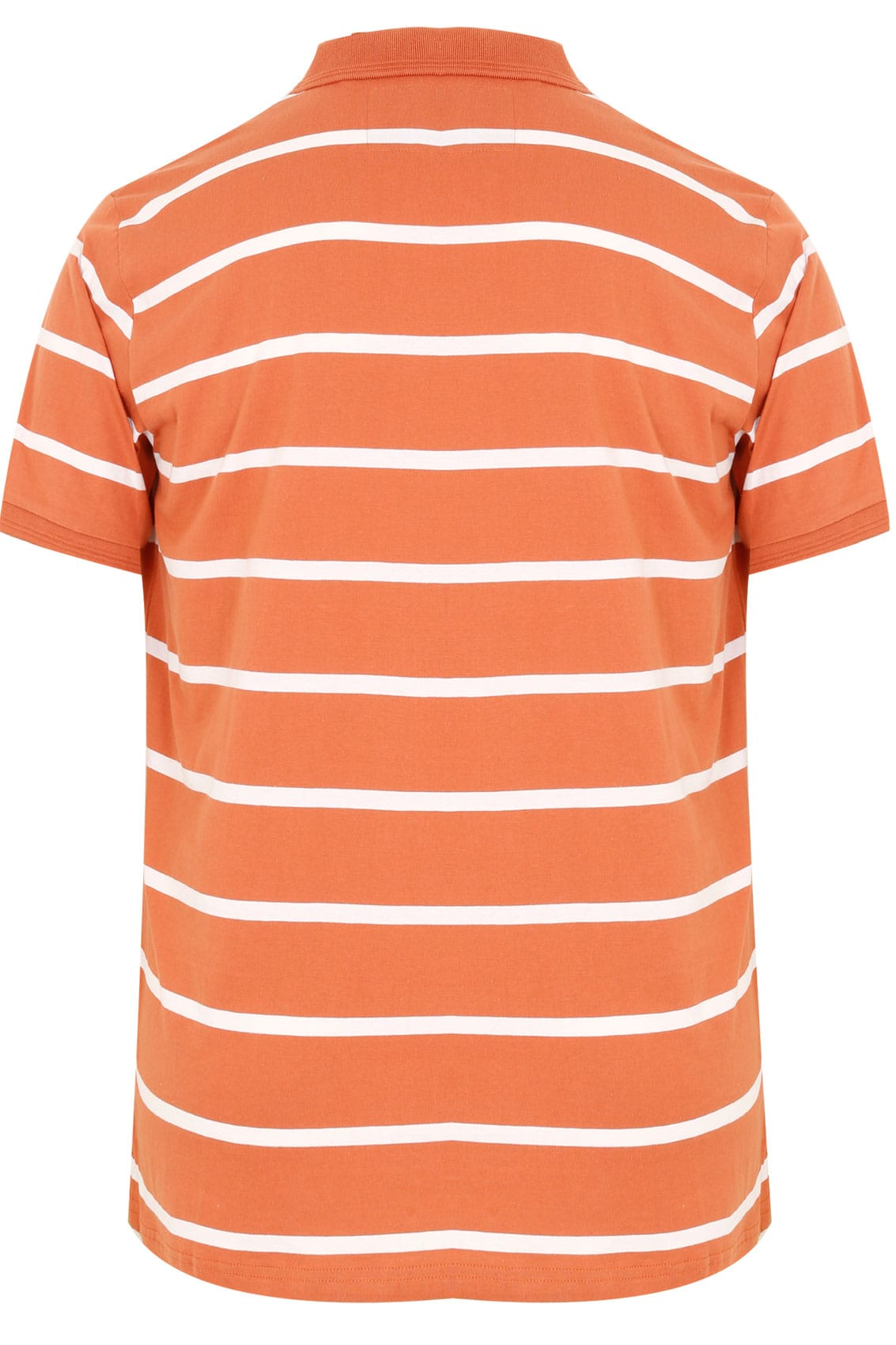 Badrhino Orange Wide Stripe Polo Shirt Tall Size L To 6xl