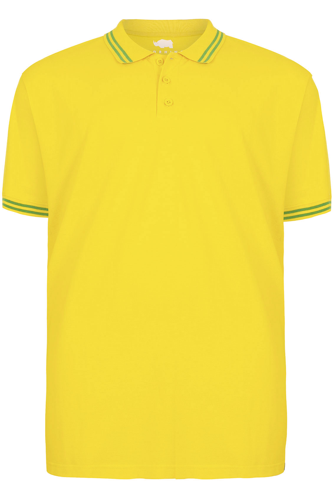 Badrhino Yellow Short Sleeved Polo Shirt Tall Plus Size